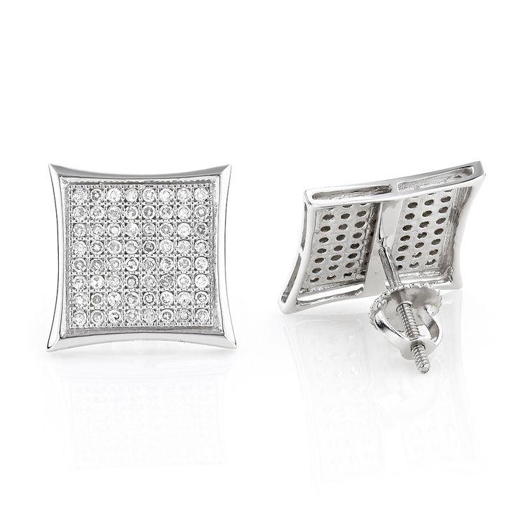 Real Diamond Earrings 10K Round Diamond Earrings 0.52ct