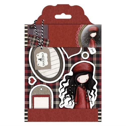 Gorjuss Santoro Tweed - The Winter's Night rubber stamp