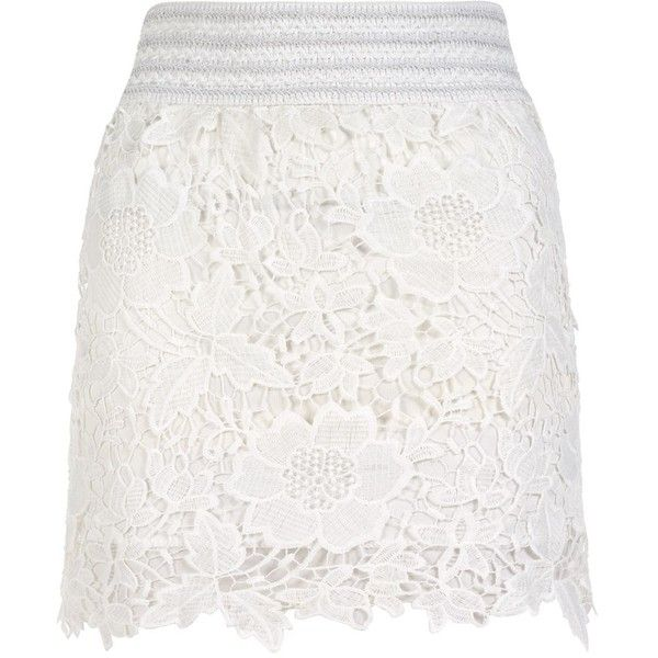 Parisian White Floral Lace Skirt