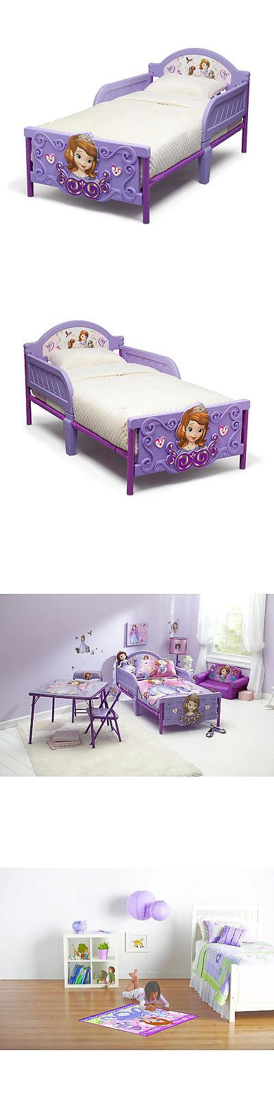 Kids Furniture: Disney Jr. Sofia The First 3D Toddler Bed BUY IT NOW ONLY: $59.99