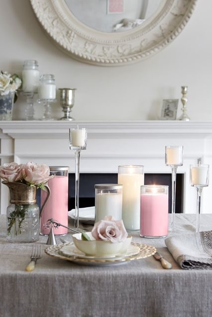 Have a long #TopTable? Use pillar candles of different colours and heights as well as votive holders to create an elegant and dramatic statement for your #WeddingDay!