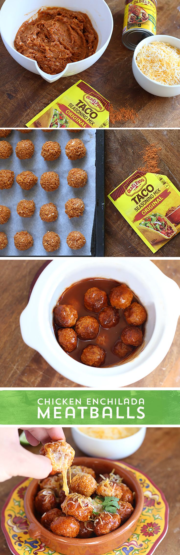 Need a party appetizer that your whole crowd is sure to love, but don't have a lot of time for prep? These Chicken Enchilada Meatballs from @HungryFoodLove are perfect! With just 5 simple ingredients and 20 minutes prep, your Slow Cooker handles the rest! These Meatballs are packed with the enchilada flavor you love combined with the snacking pleasure of easy meatballs!