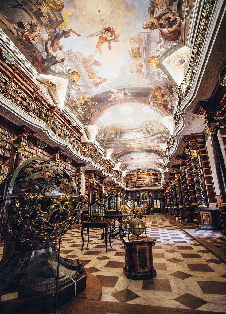 The KLEMENTINUM  LIBRARY  --  PRAGUE .