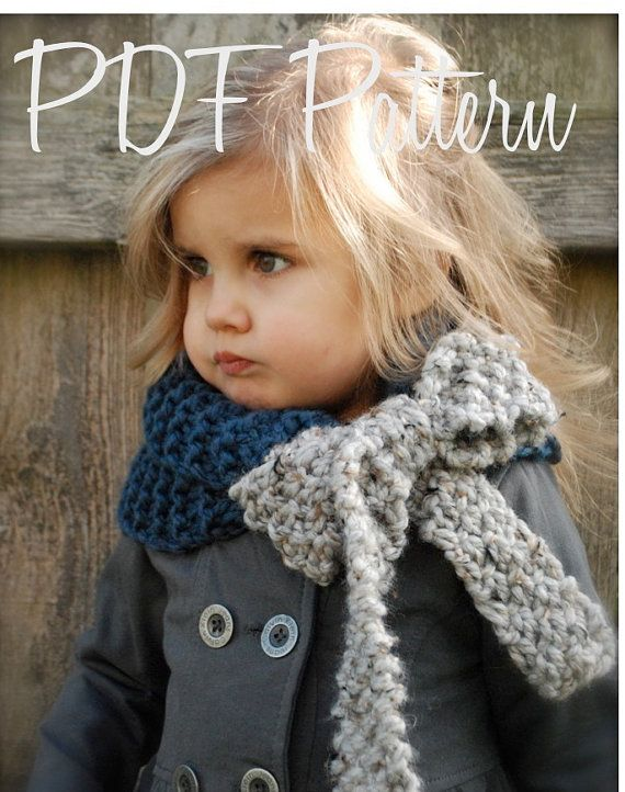 Cowl scarf with bow - @Amanda Snelson Snelson Snelson Snelson Snelson Vest, do you think you could crochet something like this? I think it is just adorable.