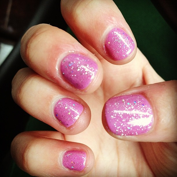 A little birthday Gelish with some added pinterest glitter inspiration :)