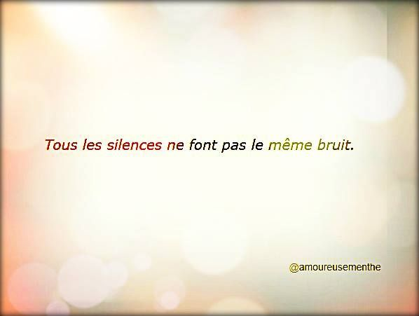 all silences are not the same noise