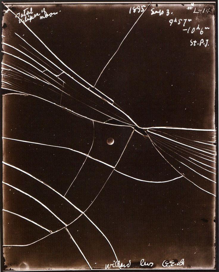 Linda Connor, September 3, 1895, broken glass plate negative of lunar eclipse
