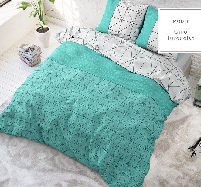 Śliczna turkusowa dekoracyjna pościel do sypialni 160x200