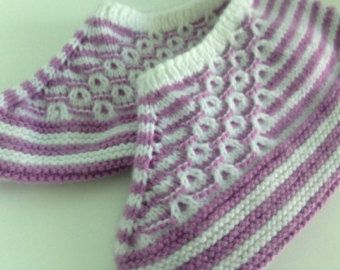 Knitted slipper for women handmade slipper socks by AmiCCreations