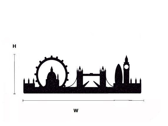 Città di Londra Skyline velluto Decal Big Ben di Mirshkastudio