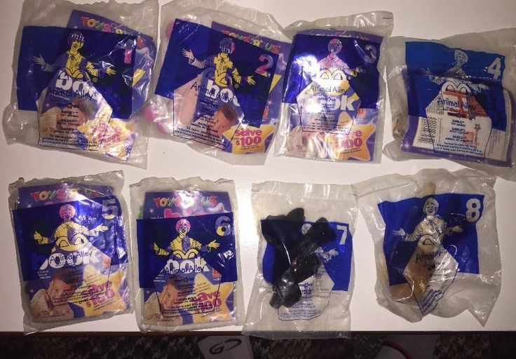 McDonalds Happy Meal Toys New 2001 Animal Alley Set 8 Toys R Us #ToysRUs @ebay