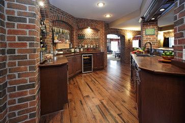 pictures of bars and pubs wall made of brick | Finished Basement Bar - traditional - basement - detroit - by M.J ...