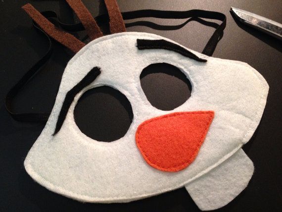 PATTERN Frozen Snowman Felt Mask... by DomesticDiva33 on Etsy