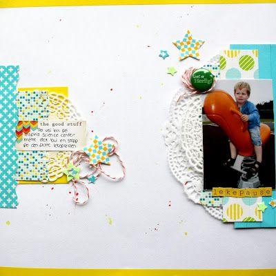 "Andrine & Marens Landhandleri: ""Lekepause"" Washi tape layout by Dt Stine."