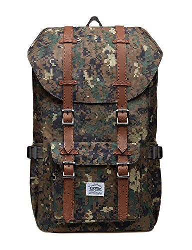 """Kaukko Laptop Outdoor Backpack, Travel Hiking& Camping Rucksack Pack, Casual Large College School Daypack, Shoulder Book Bags Back Fits 15"""" Laptop & Tablets (EP51greens). For product & price info go to:  https://all4hiking.com/products/kaukko-laptop-outdoor-backpack-travel-hiking-camping-rucksack-pack-casual-large-college-school-daypack-shoulder-book-bags-back-fits-15-laptop-tablets-ep51greens/"""