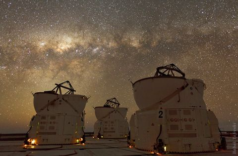 Chile's Atacama Desert- known as the driest place on Earth and apparently a great place to look at the night sky.