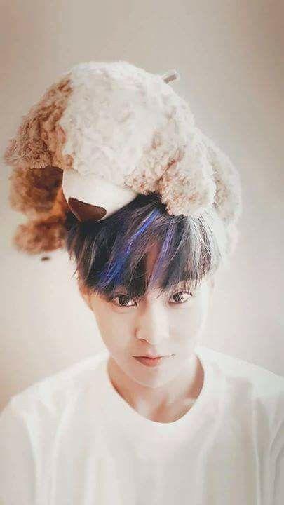 His blue hair is something else