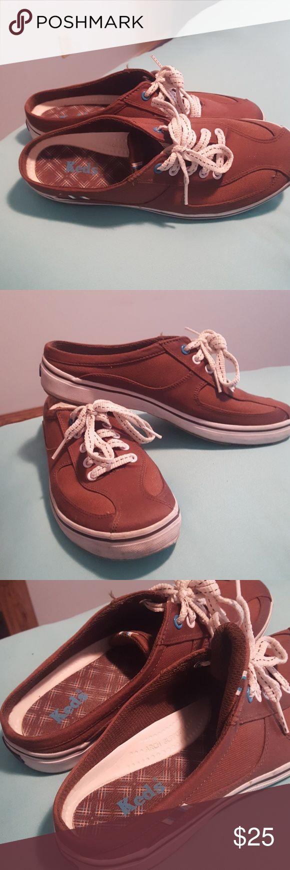 Keds brown slip on tennis shoes Excellent conditions keds tennis shoes size 6 .5 keds Shoes Mules & Clogs