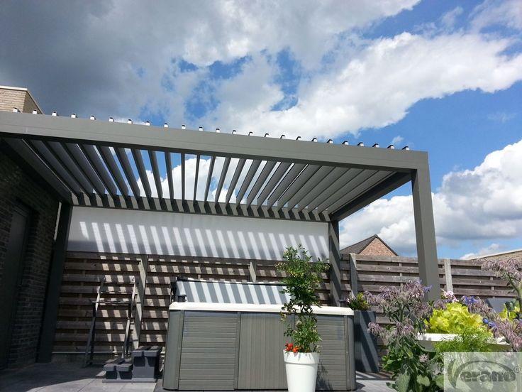 Levanto v860 verano lamellendak patio verano overkapping outdoorliving outdoor living - Pergola met intrekbaar canvas ...