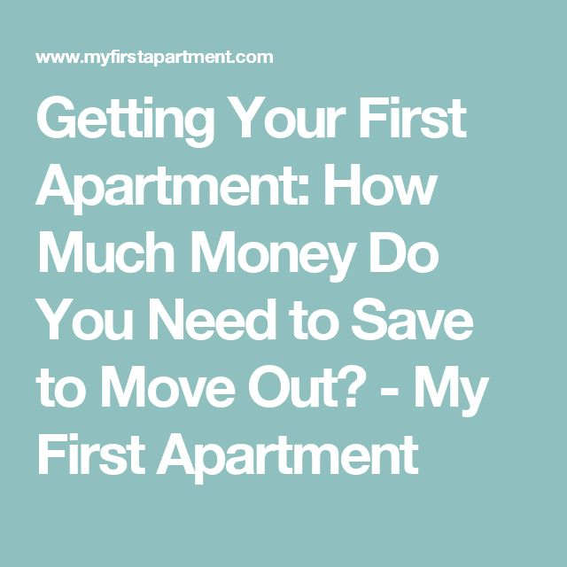 My Apartment Guide: Getting Your First Apartment: How Much Money Do You Need