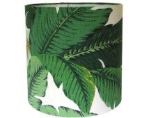 Custom Lamp Shade / Swaying Palms by Tommy Bahama in Aloe / Tropical Leafy Green / Lampshades / Beverly Hills Hotel / Made to Order