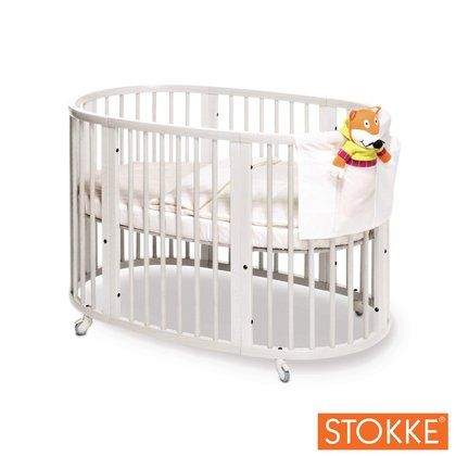 stokke sleepi crib white natural and cribs. Black Bedroom Furniture Sets. Home Design Ideas