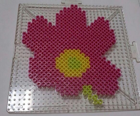 Unikko Marimekko design perler beads by Kyon