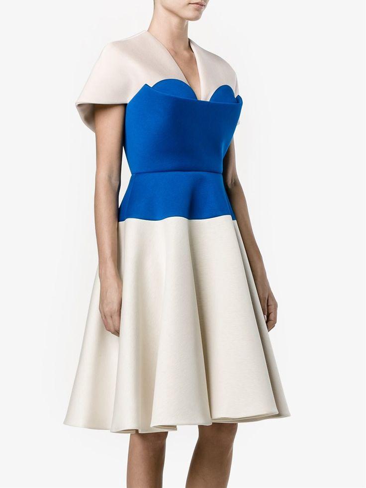 Delpozo платье А-силуэта с панелью-бюстье