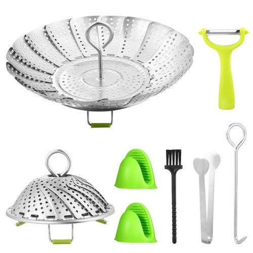 Best Vegetable Steamer Baskets 9. Vegetable Steamer Basket for Pot Stainless Steel Veggie Steamer Rack Set for Pressure Cooker