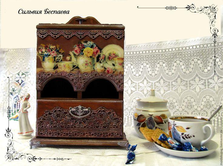 Купить Чайный комодик - чайный домик, чааный домик в подарок, чайный комодик