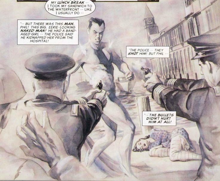 The king of Atlantis has no need for pants. Prince, technically. Art by Alex Ross