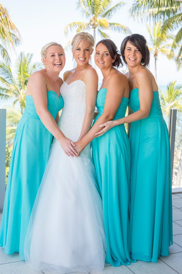 372 best for the bridesmaids images on pinterest bridal for Turquoise bridesmaid dresses for beach wedding