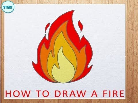 ▶ How to Draw a Fire | How to Draw Flames - YouTube