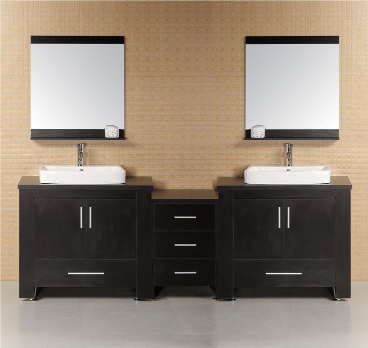 d vanity in espresso with water resistant vanity top and mirror in the home depot