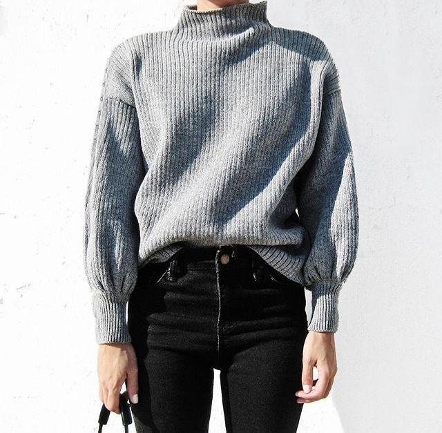 Mock Neck Sweater // viennawedekind.com