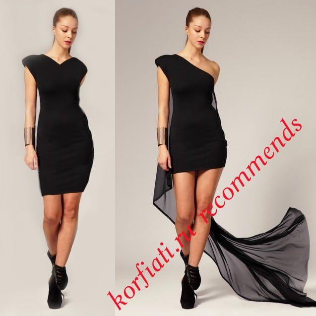 Как переделать платье: шикарное новогоднее платье за 2 часа В гардеробе почти каждой женщины есть как минимум одно надоевшее платье. Однако, простое че ...