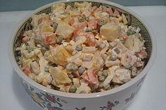 Polnischer Gemüsesalat mit Mayonnaise (Rezept mit Bild)   Chefkoch.de