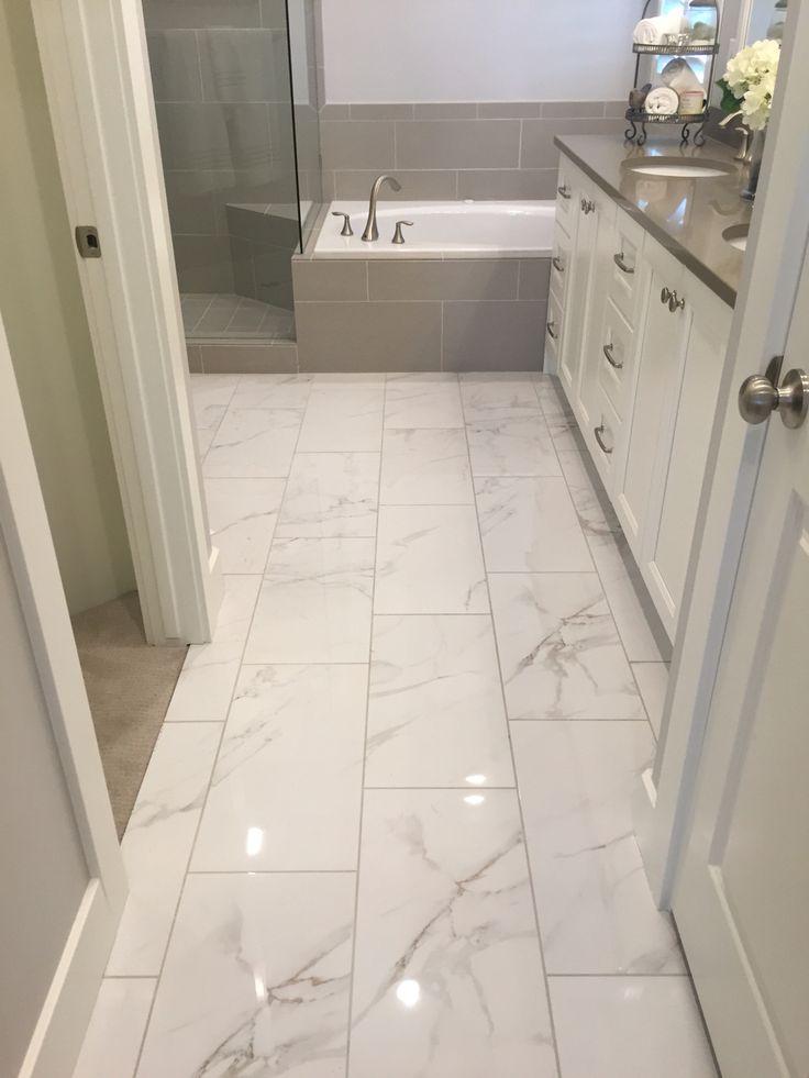 I like shiny tile  the loo in 2019  Bathroom flooring