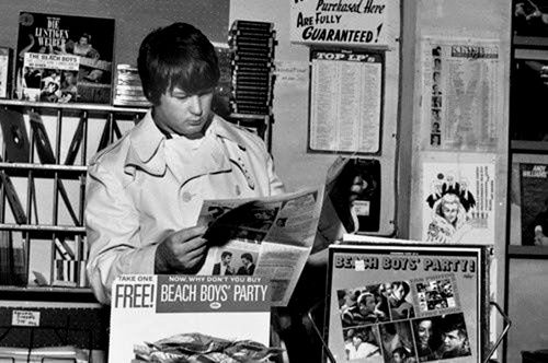 Brian Wilson at a record store
