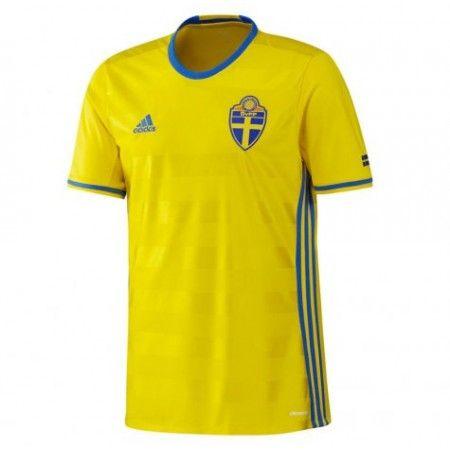 Sverige 2016 Hjemmedrakt Kortermet.  http://www.fotballteam.com/sverige-2016-hjemmedrakt-kortermet.  #fotballdrakter