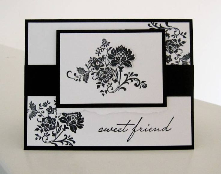 Beautiful! Fresh Vintage. Stampin Up - I like the use of black and white on this one.