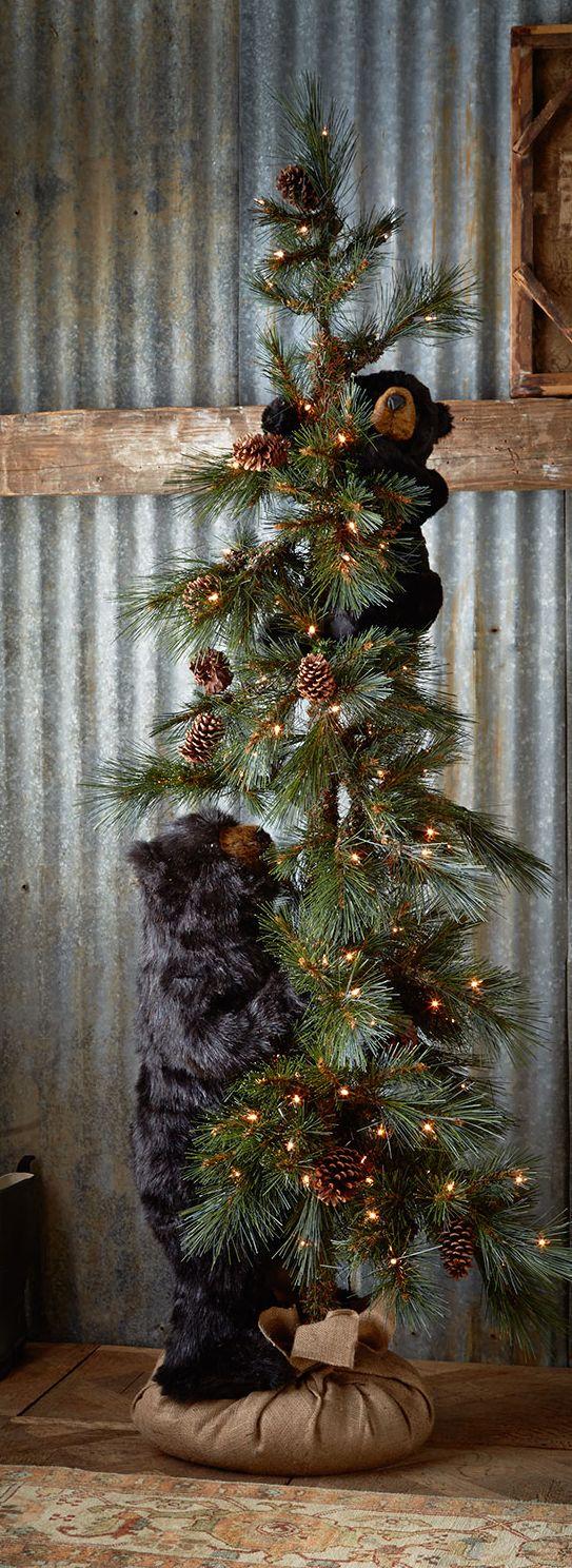 High Mountain Bear Rustic Christmas Tree