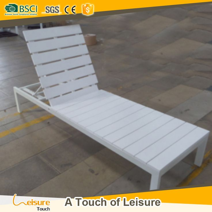 Best Selling Plastic Wood Chaise Lounger Durable Outdoor Lounge Furniture  Beach Chair