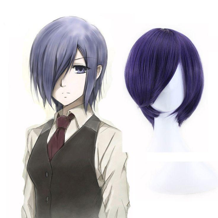 Tokyo Ghoul Touka kirishima Cosplay Perruque Courte Bleu violet Pas Cher Synthétique Cheveux Anime Perruques Peruca Peluca Perruque dans   de   sur AliExpress.com | Alibaba Group