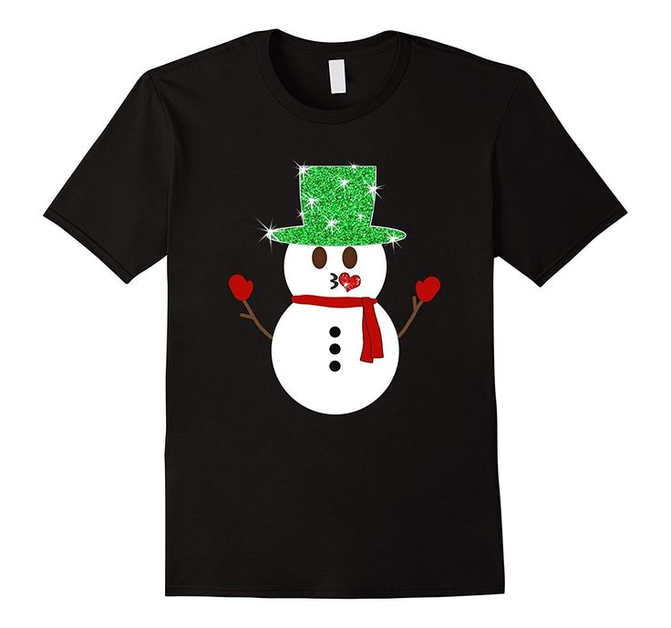 Snowman Emoji Kissy Face Christmas T-Shirt for Kids