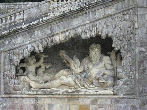 Le Tibre: statue in the grottoes of Vaux-le-Vicomte