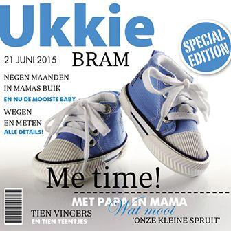 Special edition van ukkie magazine! Een origineel geboortekaartje met een magazine look.