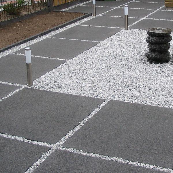 Natuursteen grind en split tuin harde materialen for Grind tuin