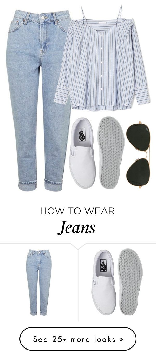 """Untitled #806"" by r0sesandtea on Polyvore featuring Topshop, Vans and Ray-Ban"