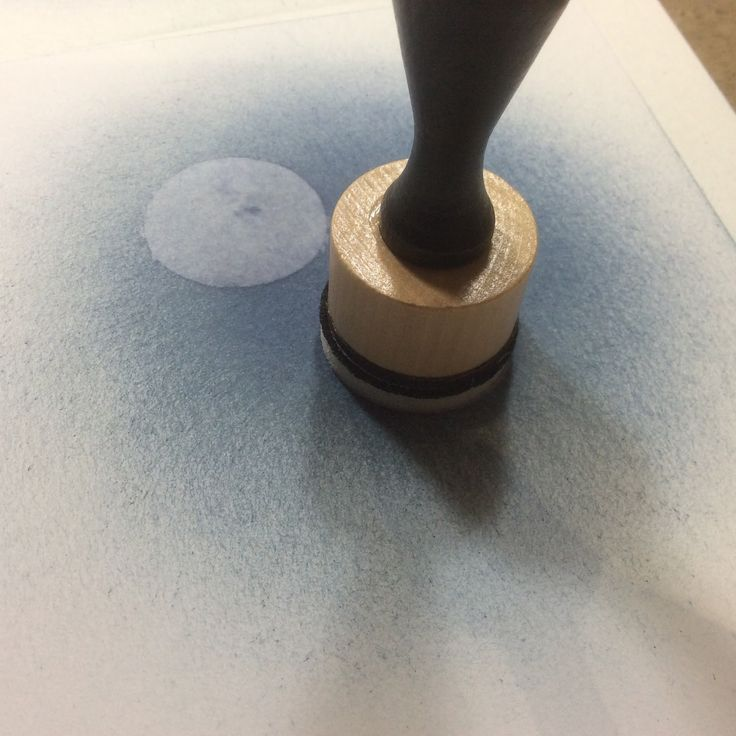 "use round blending tool and water to remove distress paint and create a ""moon"""